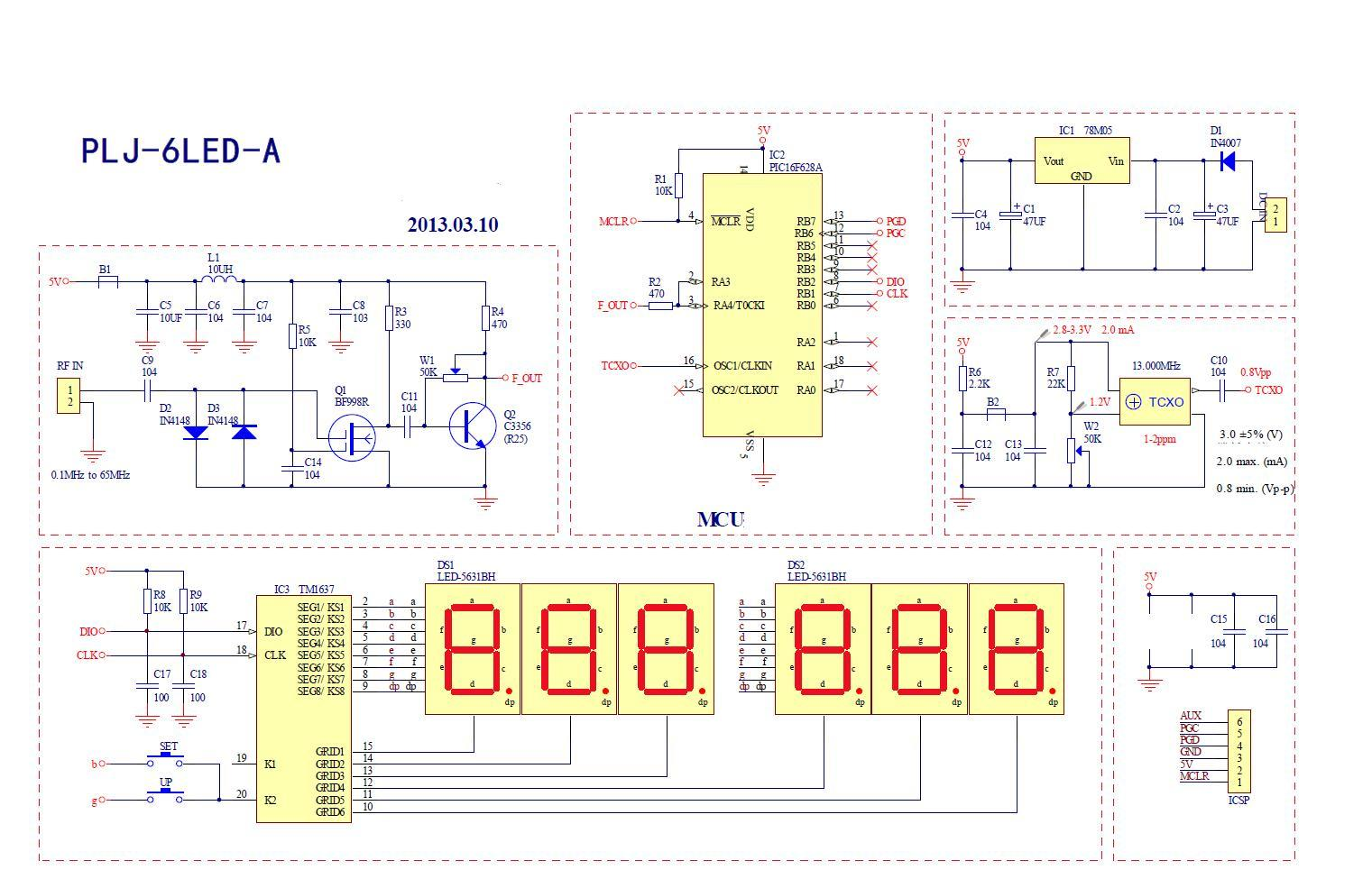 Yaesu Ft 7 Frequency Counter Schematic Plj 6led A Unmodified